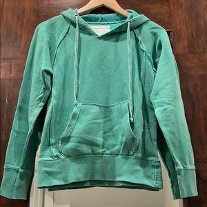 OCEAN DRIVE Distressed Green Hoodie Sweatshirt S